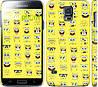 "Чехол на Samsung Galaxy S5 g900h Губка Боб. Мордашки ""2346c-24"""