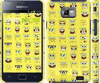 "Чехол на Samsung Galaxy S2 i9100 Губка Боб. Мордашки ""2346c-14"""