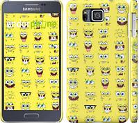 "Чехол на Samsung Galaxy Alpha G850F Губка Боб. Мордашки ""2346c-65"""