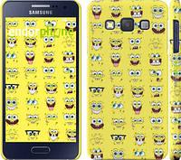 """Чехол на Samsung Galaxy A3 A300H Губка Боб. Мордашки """"2346c-72"""""""