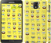 "Чехол на Samsung Galaxy Note 3 N9000 Губка Боб. Мордашки ""2346c-29"""