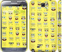 "Чехол на Samsung Galaxy Note 2 N7100 Губка Боб. Мордашки ""2346c-17"""