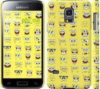 "Чехол на Samsung Galaxy S5 mini G800H Губка Боб. Мордашки ""2346c-44"""