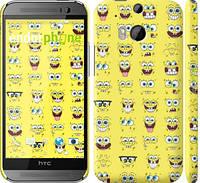 "Чехол на HTC One M8 dual sim Губка Боб. Мордашки ""2346c-55"""
