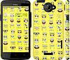 """Чехол на HTC One X+ Губка Боб. Мордашки """"2346c-69"""""""
