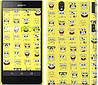 """Чехол на Sony Xperia Z C6602 Губка Боб. Мордашки """"2346c-40"""""""