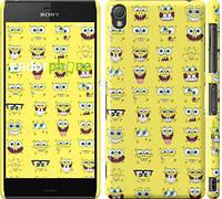 "Чехол на Sony Xperia Z3 D6603 Губка Боб. Мордашки ""2346c-58"""
