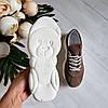 Женские кроссовки из натуральной замши бежевого цвета, фото 10