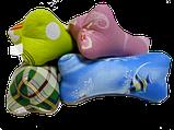 Подушка валик 33х15 см форма косточка наполнитель гречишная лузга натуральная 100%, фото 8
