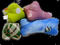 Подушка валик 40х12 см форма косточка 40 см наполнитель гречишная лузга натуральная 100%
