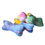 Подушка валик 40х12 см форма косточка 40 см наполнитель гречишная лузга натуральная 100%, фото 2