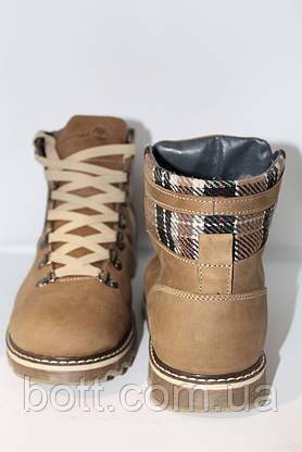 Фисташковые кожаные ботинки зимние, фото 3