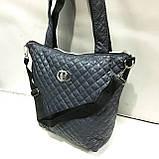 Женские стеганные сумки Chanel (СИНИЙ-ЗОЛОТО)32*34см, фото 7