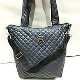 Женские стеганные сумки Chanel (СИНИЙ-ЗОЛОТО)32*34см, фото 8