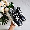Женские кроссовки из натуральной кожи черного цвета, фото 8