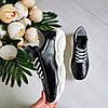 Женские кроссовки из натуральной кожи черного цвета, фото 10