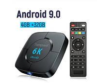 Transpeed 6K смарт тв приставка андроид 9.0 4G/32G, фото 1