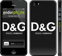 "Чехол на iPhone 5 Dolce and Gabbana 1 ""449c-18"""