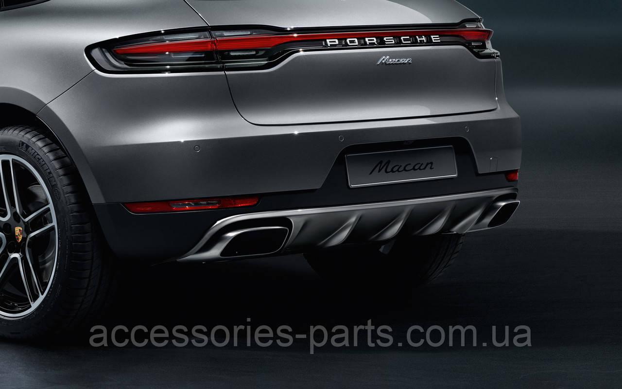 Накладка заднего бампера Porsche Macan II 2018+ Новая Оригинальная