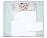 Пеленальный матрас для новорожденных тканевый Veres Lazy sloth