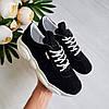 Женские кроссовки из натуральной замши черного  цвета, фото 6