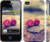 """Чехол на iPhone 4 Две розы """"698c-15"""""""