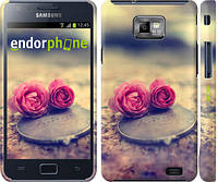 "Чехол на Samsung Galaxy S2 Plus i9105 Две розы ""698c-71"""