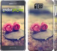 "Чехол на Samsung Galaxy Alpha G850F Две розы ""698c-65"""