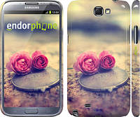 "Чехол на Samsung Galaxy Note 2 N7100 Две розы ""698c-17"""