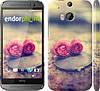 """Чехол на HTC One M8 Две розы """"698c-30"""""""