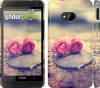 """Чехол на HTC One M7 Две розы """"698c-36"""""""