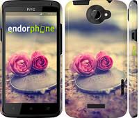 """Чехол на HTC One X+ Две розы """"698c-69"""""""
