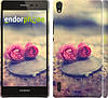 "Чехол на Huawei Ascend P7 Две розы ""698c-49"""
