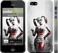 """Чехол на iPhone 5 Batman. Arkham city. Harley """"610c-18"""""""