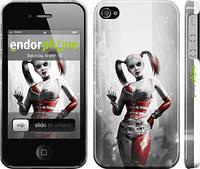 """Чехол на iPhone 4 Batman. Arkham city. Harley """"610c-15"""""""