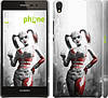 "Чехол на Huawei Ascend P7 Batman. Arkham city. Harley ""610c-49"""