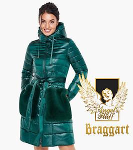 Воздуховик Braggart Angel's Fluff 31845 | Весенне-осенняя женская куртка изумрудная
