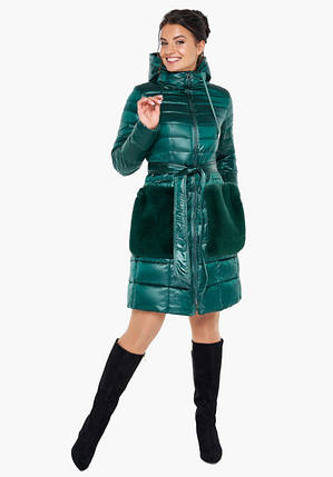 Воздуховик Braggart Angel's Fluff 31845 | Весенне-осенняя женская куртка изумрудная, фото 2