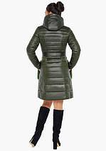 Воздуховик Braggart Angel's Fluff 31845 | Осеннее-весенняя женская куртка цвет темный хаки, фото 3