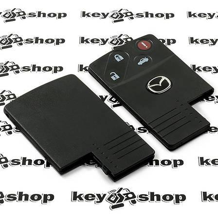 Корпус смарт ключа Mazda (Мазда) 3 кнопки + 1 (panic), (без лезвия), фото 2