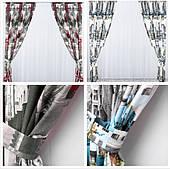 Готові дорогі щільні штори міста в спальню,залу(тканинні підхоплення + 50 грн.)