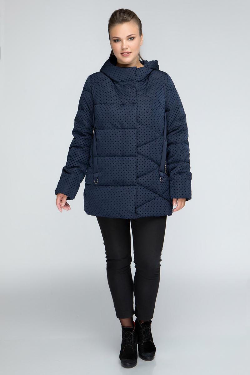 Женский пуховик-куртка в горошек размеры 46-64