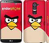 "Чехол на LG G2 Angry birds. Red. ""542c-37"""