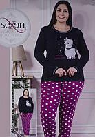 Пижама женская Sexen Турция батал 2XL, 3XL, 4XL, 5XL | 1 шт.