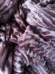 Однотонний флісовий плед шоколад