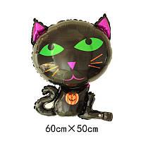 Шарики фольга Черный кот для Хэллоуина, фото 1