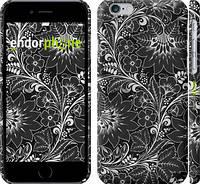 """Чехол на iPhone 6 Чёрно-белая хохлома """"1092c-45"""""""