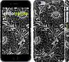 """Чехол на iPhone 6 Plus Чёрно-белая хохлома """"1092c-48"""""""
