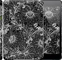 "Чехол на iPad 5 (Air) Чёрно-белая хохлома ""1092c-26"""