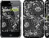 "Чехол на iPhone 3Gs Чёрно-белая хохлома ""1092c-34"""